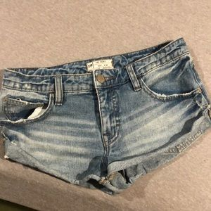 Free People Denim Short Shorts